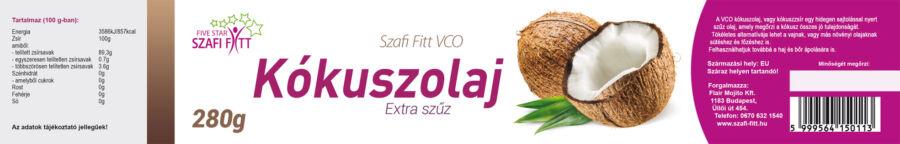 Szafi Reform Extra szűz VCO kókuszolaj 280g