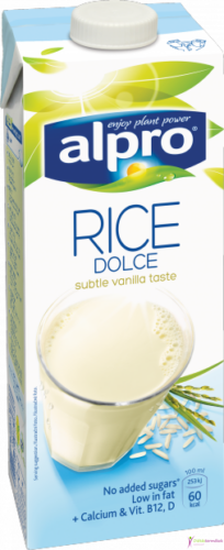 Alpro rizsital vaníliás (hozzáadott cukormentes) 1000ml