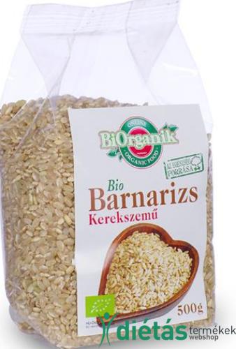 Bio barnarizs kerekszemű 500 g