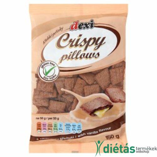 Dexi Crispy pillows vanilla vanília ízesítésű párnák gluténmentes) 150g
