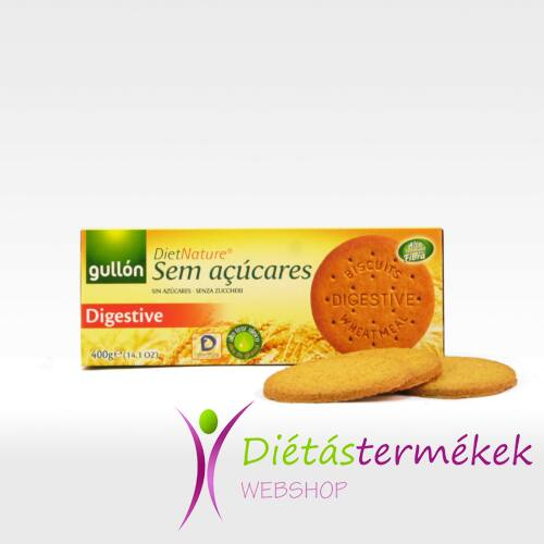 Gullon Digestive diet nature korpás keksz (hozzáadott cukormentes) 400 g