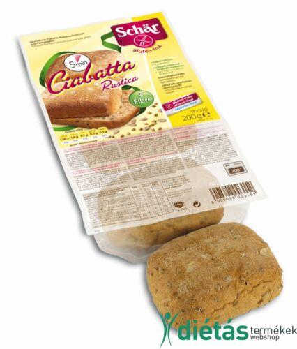 Schär Ciabatta többmagvas elősütött zsemlék (glutén-, tej-, tojásmentes) 200 g