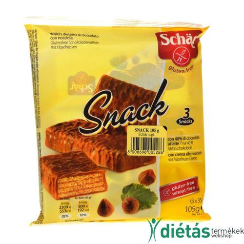 Schär Snack csokoládéval bevont Gluténmentes mogyorós ostya 105 g