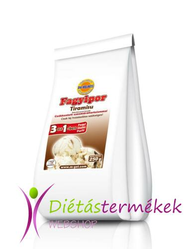 Dia-Wellness Tiramisu ízű fagyipor 250g