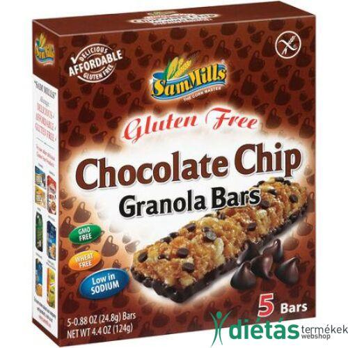 Sam Mills Gluténmentes étcsokis müzliszelet 5x 24,8 g