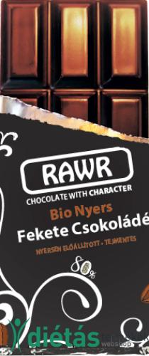 Rawr Bio nyers fekete csokoládé 60 g