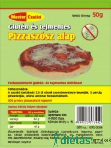 Mester glutén és tejmentes, tojásmentes pizzaszósz alap 50 g