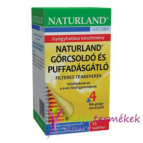 Naturland görcsoldó tea 25 filteres