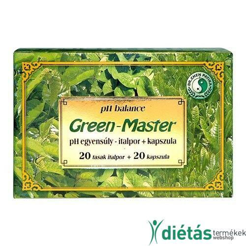 Dr. Chen Green Master Ph egyensúly italpor + kapszula 20+20db