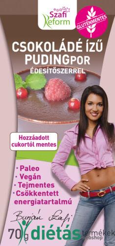 Szafi Reform ssokoládé ízű pudingpor édesítőszerrel 70 g (paleo, vegán, glutén-, és tejmentes)
