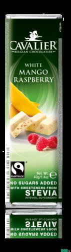 Cavalier fehér csokoládé mangóval és málnával, édesítőszerekkel 40 g