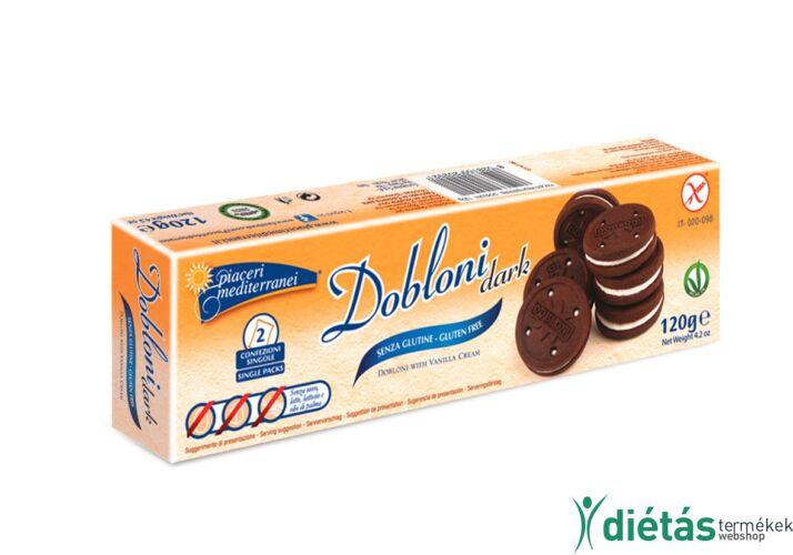 Piaceri Mediterranei Dobloni Dark keksz 120g