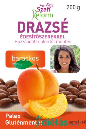 Szafi Reform Barackos drazsé kakaós bevonattal, édesítőszerekkel (gluténmentes, paleo) 200g