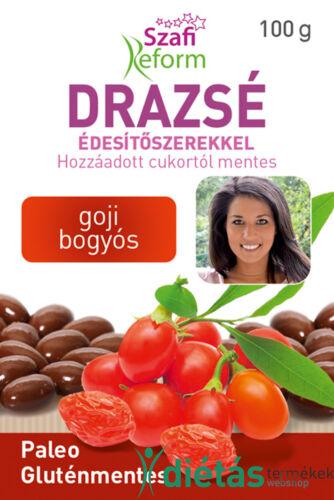 Szafi Reform Goji bogyós drazsé kakaós bevonattal, édesítőszerekkel (gluténmentes, paleo) 100g