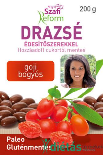 Szafi Reform Goji bogyós drazsé kakaós bevonattal, édesítőszerekkel (gluténmentes, paleo) 200g