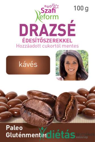 Szafi Reform Eritrites kávés drazsé (gluténmentes, vegán, paleo) 100g