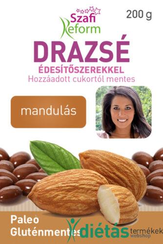 Szafi Reform Mandulás drazsé kakaós bevonattal, édesítőszerekkel (gluténmentes, paleo) 200g