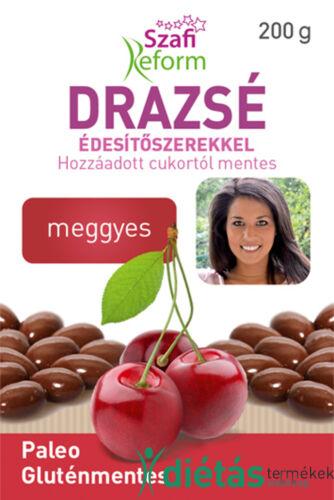 Szafi Reform Meggyes drazsé kakaós bevonattal, édesítőszerekkel (gluténmentes, paleo) 200g