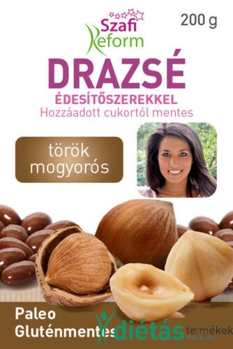 Szafi Reform Törökmogyorós drazsé kakaós bevonattal, édesítőszerekkel (gluténmentes, paleo) 200g