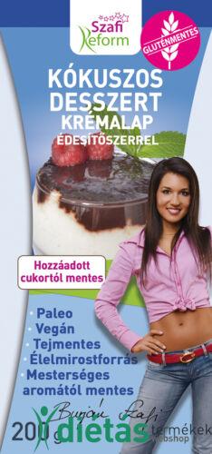 Szafi Reform Kókuszos desszert krémalap édesítőszerrel (bounty ízű) 200g (paleo, vegán, gluténmentes, tejmentes)