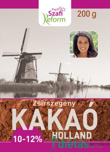 Szafi Reform Zsírszegény holland kakaópor (10-12% kakaóvaj tartalom) 200g