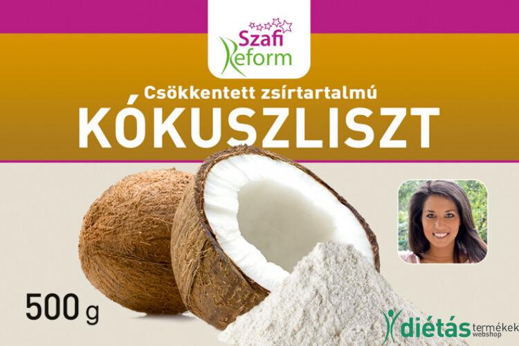 Szafi Reform csökkentett zsírtartalmú kókuszliszt 500 g