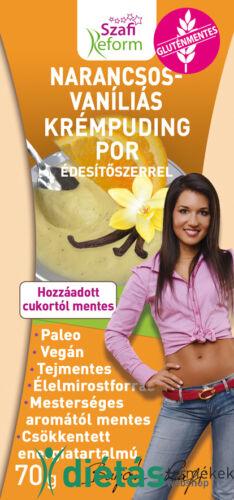 Szafi Reform Narancsos-vaníliás, krémpuding édesítőszerrel 70g