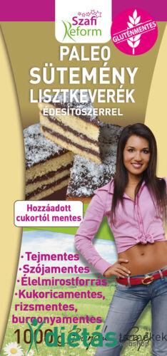 Szafi Reform Paleo sütemény lisztkeverék édesítőszerrel (gluténmentes) 1kg