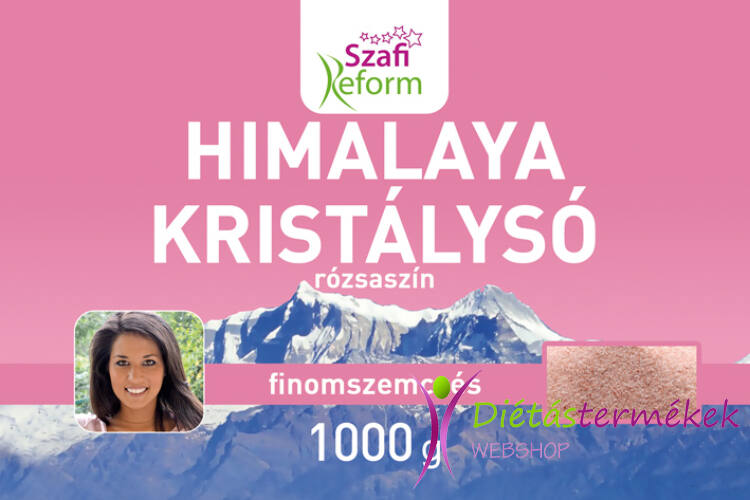 Szafi Reform Himalaya kristálysó, rózsaszín, finomszemcsés 1000g