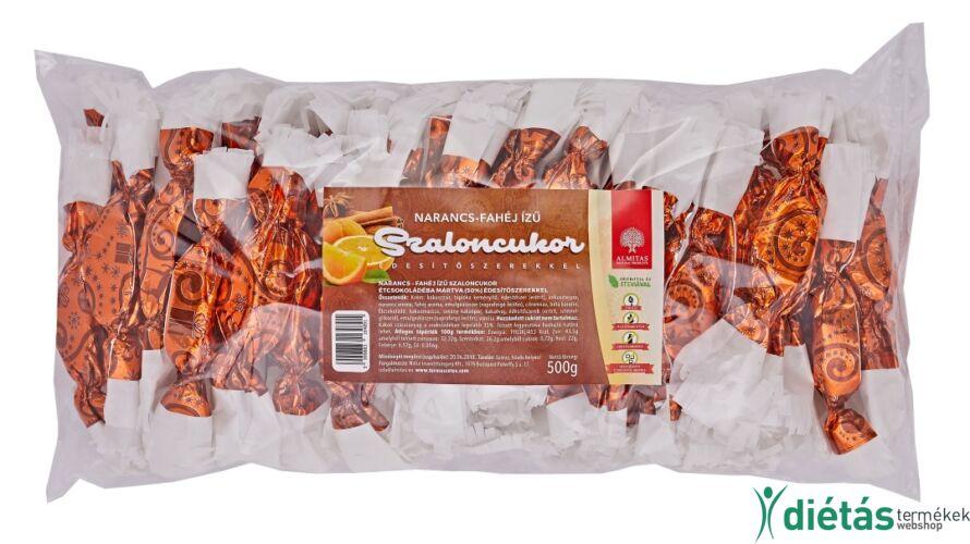 Narancsos fahéjas szaloncukor édesítőszerekkel 500g