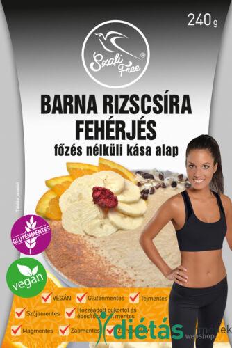 Szafi Free Barna rizscsíra fehérjés főzés nélküli kása alap (gluténmentes, tejmentes, VEGÁN) 240g