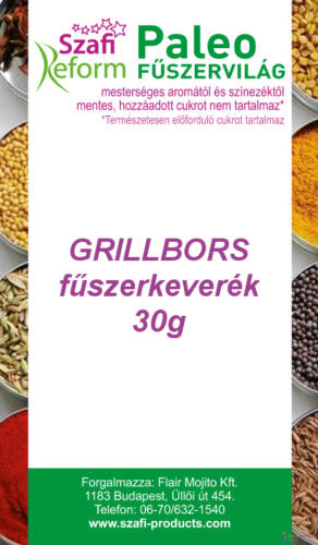 Szafi Reform Paleo Grillbors fűszerkeverék (gluténmentes) 30g
