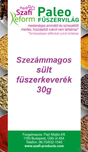 Szafi Reform Paleo Szezámmagos sült fűszerkeverék (gluténmentes) 30g