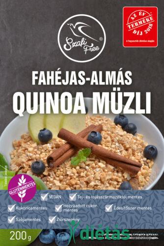 Szafi Free Fahéjas-almás quinoa müzli (gluténmentes, tejmentes, szójamentes) 200 g