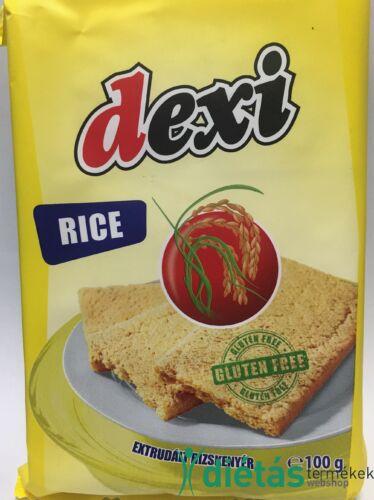 Dexi extrudált rizskenyér (gluténmentes, tejmentes, tojásmentes) 125 g