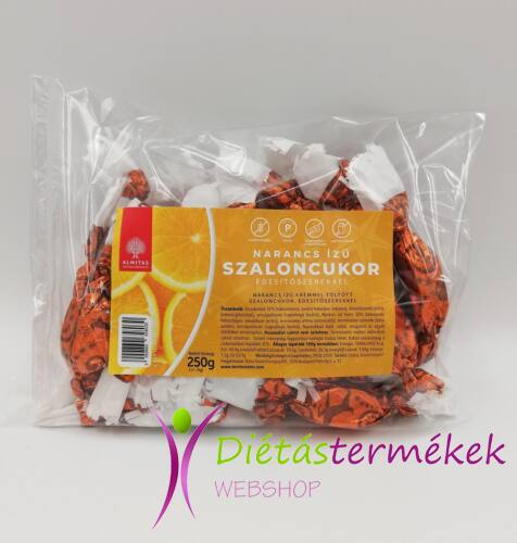 Almitas szaloncukor narancs ízű krémmel töltött 250 g