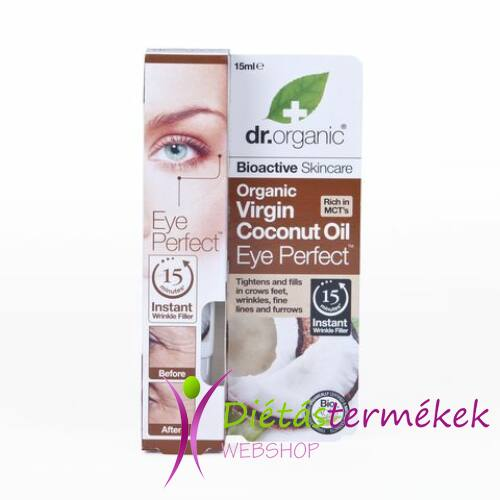 Dr.Organic BIO szemkörnyék feszesítő kókuszolajjal 15 ml
