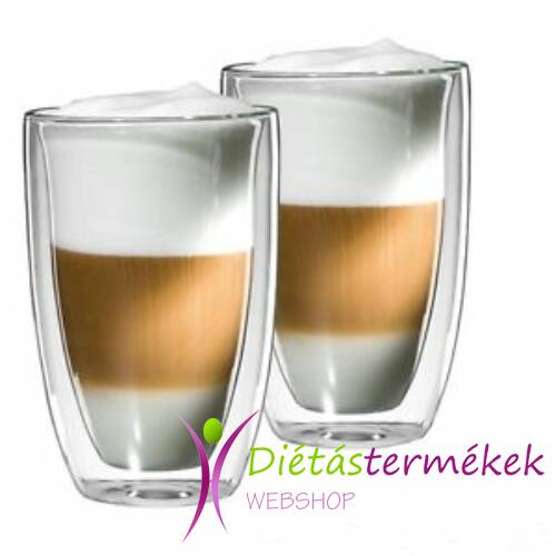 Thermo duplafalú Lounge Latte Macchiato pohár 310 ml