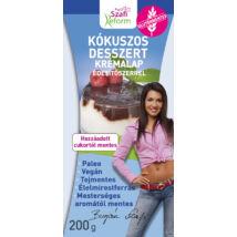 Szafi Reform Kókuszos desszert krémalap édesítőszerrel (bounty ízű) 200 g (paleo, vegán, gluténmentes, tejmentes)