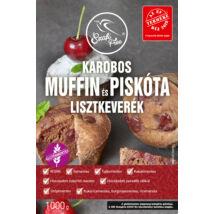 Szafi Free Karobos muffin és piskóta lisztkeverék 1000 g (gluténmentes, tejmentes, tojásmentes, maglisztmentes, zsírszegény, vegán)