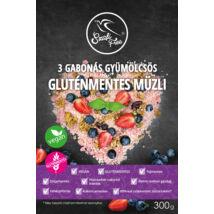 Szafi Free 3 Gabonás gyümölcsös müzli (gluténmentes) 300g