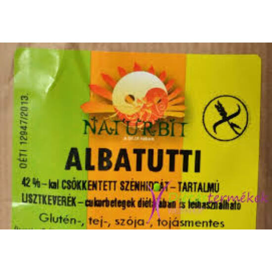 Naturbit Albatutti Dia. Gluténmentes Kenyérpor 500g