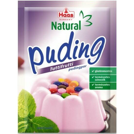 HAAS Natural Gluténmentes TUTTIFRUTTI Pudingpor 40 g