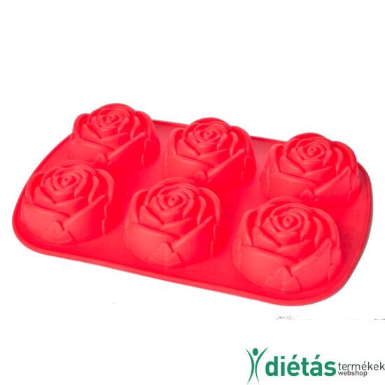 Szilikon rózsa sütőforma 6db-os