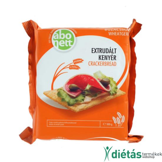 Abonett extrudált búzacsírás kenyér (Tojásmentes, tejmentes) 100 g