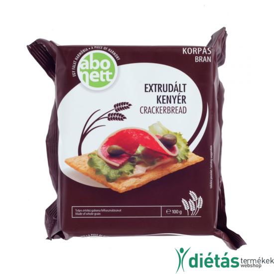 Abonett extrudált korpás kenyér (Tojásmentes, tejmentes) 100 g