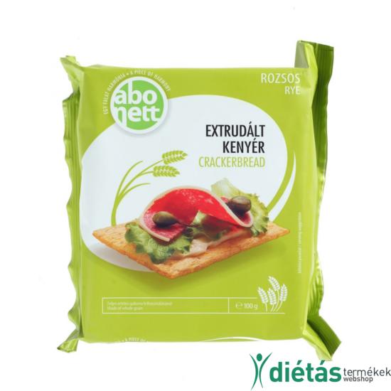 Abonett extrudált rozsos kenyér (Tojásmentes, tejmentes) 100 g