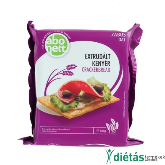 Abonett extrudált zabos kenyér (Tojásmentes, tejmentes) 100g