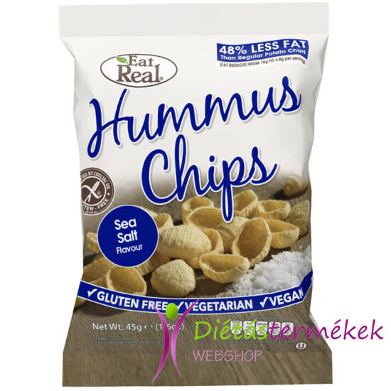 Eat real csicseriborsó chips sós 45g