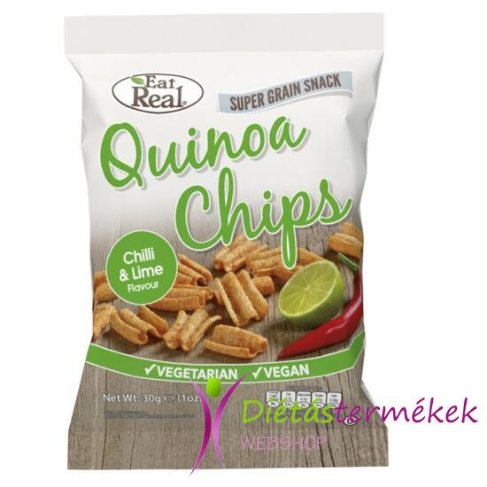 Eat real quinoa chips chili lime 30g
